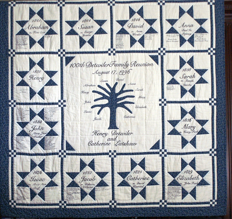DETWILER 100th REUNION QUILT